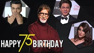 Shahrukh Khan, Karan Johar And Other Celebs Wish Amitabh Bachchan On His 75th Birthday