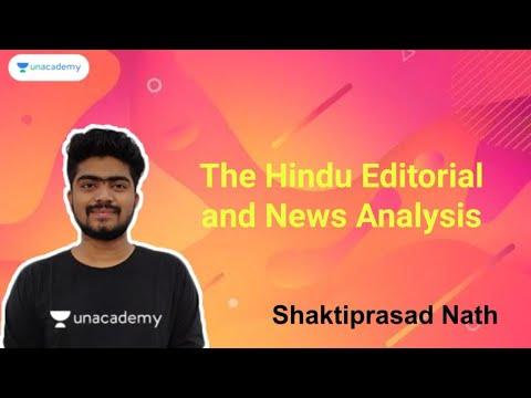The Hindu Editorial and News Analysis   18th January   Shaktiprasad Nath