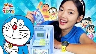 Mini ATM Doraemon! Video edukasi menabung bersama Kak Alis - Asta And Toys