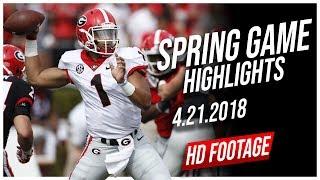 Justin Fields Georgia Spring Game Full Highlights    4.21.2018