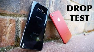 Samsung Galaxy S8 or the iPhone 7? Which flagship device is the winner in this drop test? FACEBOOK:https://www.facebook.com/techraxTWITTER:https://twitter.com/techrax INSTAGRAM: http://instagram.com/techrax
