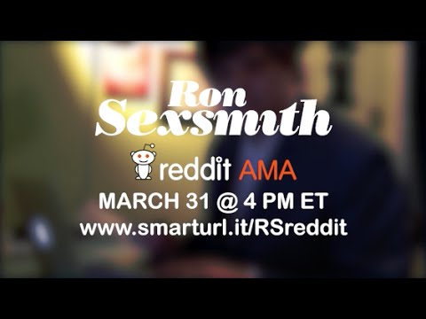 Ron Sexsmith - Reddit AMA - March 31 @ 4PM ET
