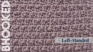 How to Crochet the Pebbled Stitch Left Hand - YouTube
