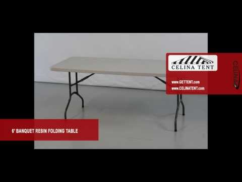 6′ x 30″ Banquet / Rectangle Resin Folding Tables