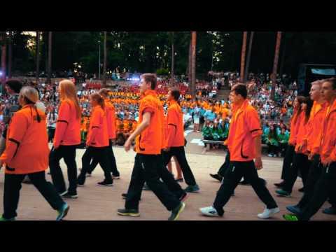Latvijas Jaunatnes vasaras olimpiādes gājiens Valmierā 3.07.2015.