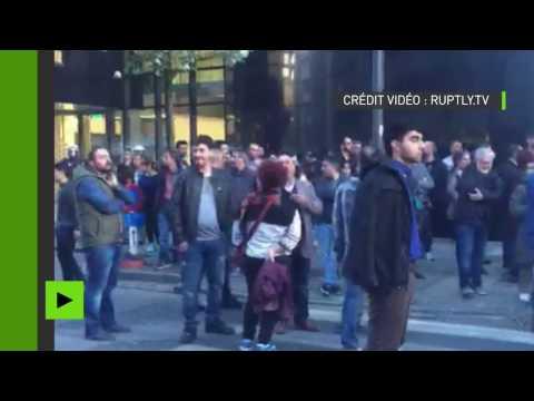 Vives tensions dans les rues de Bruxelles entre militants pro-kurdes et pro-Erdogan