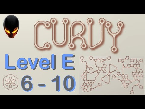 Curvy Level E 6 7 8 9 10 (Minimal puzzle game) (видео)