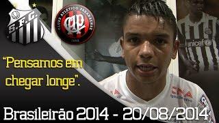 Confira os bastidores da vitória do Peixe sobre o Atlético/PR, em partida válida pela 16ª rodada do Campeonato Brasileiro 2014.