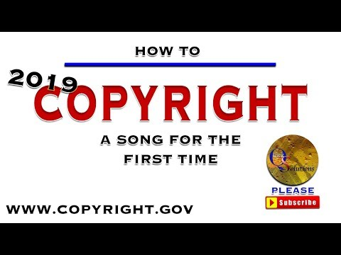 How to copyright a song for the first time