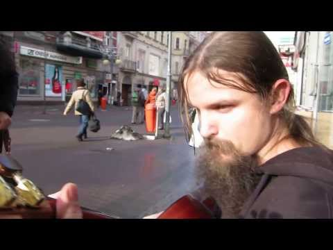 Polish Street Performer Plays Amazing Guitar