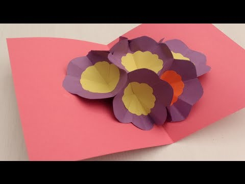 greeting - Hello Children! Let's Learn how to make a 3D Flower Pop Up Greeting Card in the most simple and easy way! Enjoy making the 3D Flower Pop Greeting Card and pr...