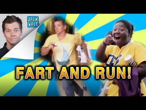 run - I farted on people, then ran away! Buy Pooters here: http://www.thepooter.com.
