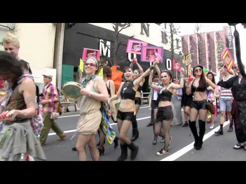 japangay - Video of the Tokyo Rainbow Pride Parade (promoting gay, lesbian & transgender rights) in the Shibuya and Harajuku neighborhoods of Tokyo, Japan. This parade ...