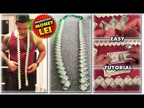 2018 HOW TO MAKE A MONEY LEI | NEW FLAT CHAIN STYLE | TUTORIAL | GRADUATION CORD | 1080p60