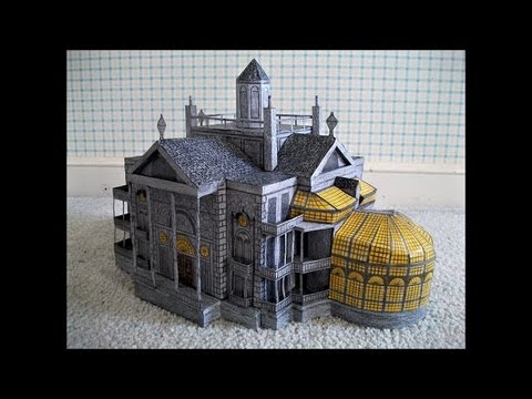 Paper model of the haunted mansion 2003 movie version on for House music 2003