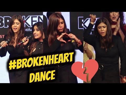 EKTA Kapoor Dancing on Stage || Launch of Music Album for web series 'Broken-But Beautiful'