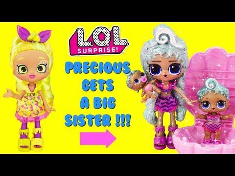 LOL SURPRISE Pearl Surprise Precious Gets A Big Sister DIY Shopkins Shoppie Doll Makeover