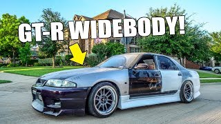R33 GT-R WIDE FRONT FENDER INSTALL! by Evan Shanks
