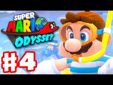Super Mario Odyssey - Gameplay Walkthrough Part 4 - Lake Kingdom! (Nintendo Switch)