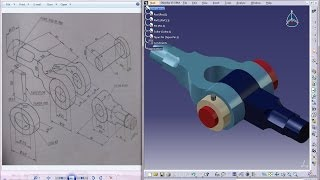 Catia V5 Tutorial|Product Engineering Design|How to Create Knuckle Joint(Easy Steps Beginners)|P1