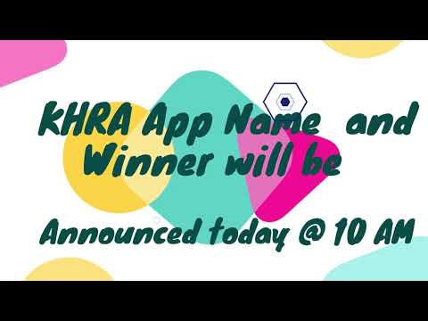 KHRA name the App Campaign. The wait is over !