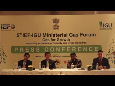 Joint Press Conference at the 5th IEF-IGU Ministerial Gas Forum #Petrotech2016