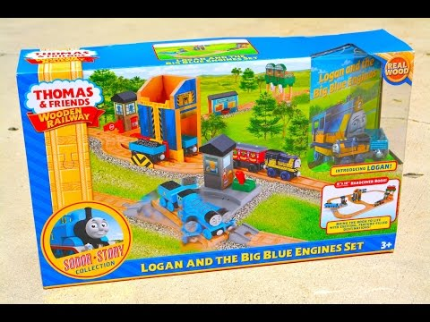 thomas - Jlouvier Presents The Sodor Story Collection Thomas The Tank Engine And Friends Wooden Railway System LOGAN AND THE BIG BLUE ENGINES SET. Mattel Fisher Price just recently Released the very...