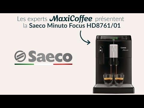 Présentation de la Saeco Minuto Focus HD8761/01