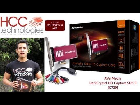 Captura y Streaming Profesional de Video Full HD 1080p AVerMedia DarkCrystal HD Capture SDK II C729