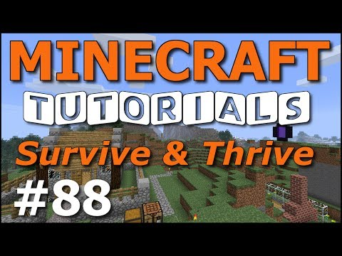 Minecraft Tutorials – E88 Map Wall (Survive and Thrive Season 7)