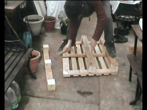 wooden - A well rehearsed method to dismantle a pallet. It was Gerrit Rietveld who famously deconstructed a transport crate to reassemble it into furniture that was b...