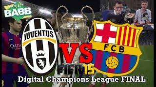 CHAMPIONS LEAGUE FINAL! Juventus vs Barcelona on FIFA 15: The Finale, cup c1,cup c1 chau au,video cup c1,juventus vs Barcelona,