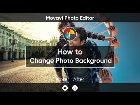 How to Change Photo Background in Movavi Photo Editor ?