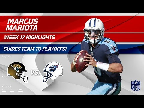 Video: Marcus Mariota Helps Guide His Team to the Playoffs! | Jaguars vs. Titans | Wk 17 Player Highlights