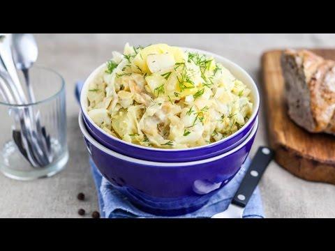 Рагу из капусты со сливками и яйцами