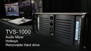 TVS-1000 Trackless Virtual Studio System - Audio Mixer | Hotkeys | Removable hard drive