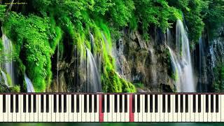 Caruso - Waterfalls (Ноты и Видеоурок для фортепиано) (piano cover)