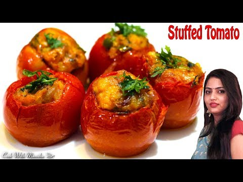 भरवां टमाटर-stuffed tomato recipe-Bharwaan Tamatar Recipe-Bharwa tamatar Recipe-dry stuffed tomatoes