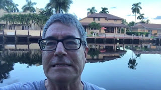 Lori and Randall at their Air B&B on the West Coast of Florida during Hurricane Matthew while en