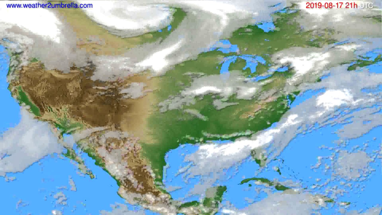 Cloud forecast USA & Canada // modelrun: 00h UTC 2019-08-16