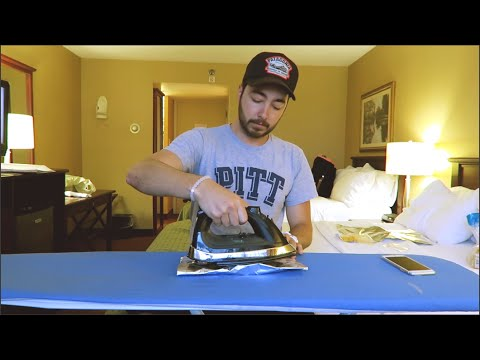 DIY Hotel Room Grilled Cheese