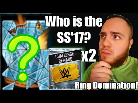 Who is the SS17 Card for Ring Domination? Challenge Reward Pack Openings! WWE Supercard Season 4!