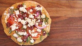 Grilled Mediterranean Pita Pizza Recipe | Vegetarian BBQ by The Domestic Geek