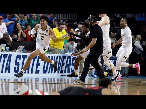 Michigan basketball insane buzzer beater to beat Houston