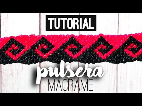 Pulsera ola griega ♥︎ macramé (English subtitles)   Tutorial   How to