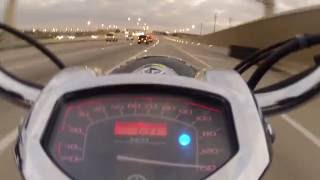 4. Breaking 145mph on my Yamaha V-Star 1300