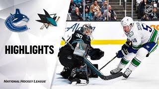 NHL Highlights   Canucks @ Sharks 12/14/19 by NHL