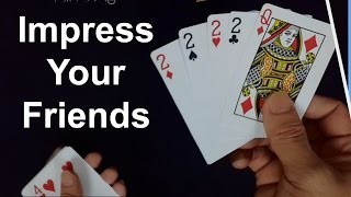 Hi there! Today i'm going to show you an amazing card trick that you can learn and perform to impress your friends. Enjoy!!!- Subscribe our channel here: https://goo.gl/jA2ViV- Other Magic Tricks: https://goo.gl/AwMyMr- Fanpage: https://goo.gl/zR6dcd