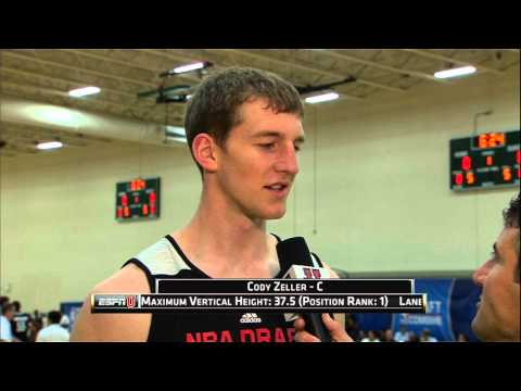Cody Zeller at the NBA Draft Combine 2013_Kosrlabda legjobb videk. Sport of USA