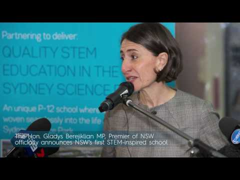 Sydney Science Park Stem School Premier And Ministers With The Drone Web